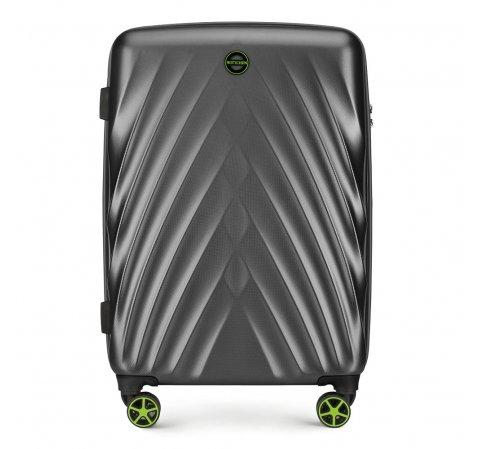 Közepes bőrönd, szürke, 56-3P-802-44, Fénykép 1