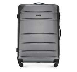 ABS nagy bőrönd bordás, szürke, 56-3A-653-01, Fénykép 1