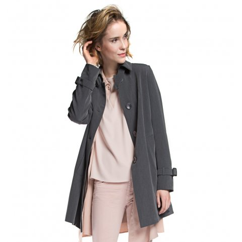 Női kabát, szürke, 86-9W-100-8-2XL, Fénykép 1