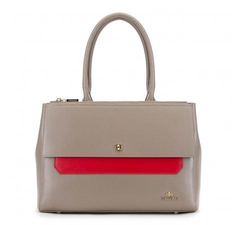 Bevásárló táska, szürke piros, 90-4E-357-8, Fénykép 1