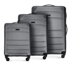 ABS Bőröndkészlet, szürke, 56-3A-65S-01, Fénykép 1