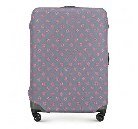 Nagyméretű bőrönd takaró, szürke-rózsaszín, 56-30-033-44, Fénykép 1