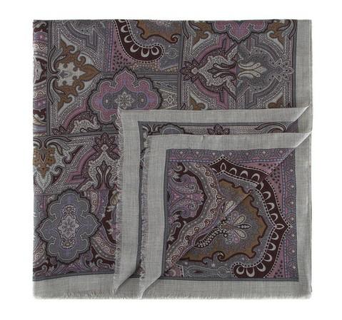 Női sál, szürke-rózsaszín, AP-7-082-16, Fénykép 1