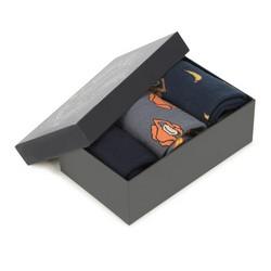 Férfi zokni szett, szürke-sötétkék, 90-SK-001-X1-40/42, Fénykép 1