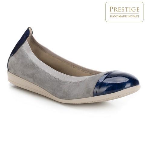 Női cipő, szürke-sötétkék, 88-D-455-8-36, Fénykép 1