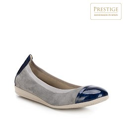 Női cipő, szürke-sötétkék, 88-D-455-8-38, Fénykép 1