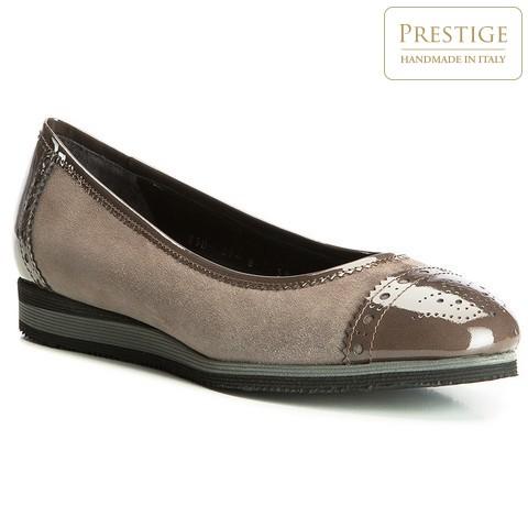 Női cipő, szürkésbarna, 83-D-107-8-35, Fénykép 1