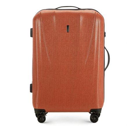 Közepes bőrönd, tégla vörös, 56-3P-962-70, Fénykép 1