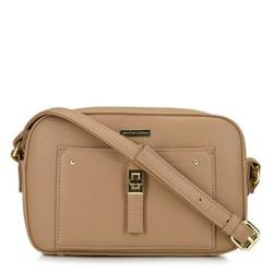 Женская сумка через плечо с передним карманом, темно-бежевый, 29-4Y-001-9G, Фотография 1
