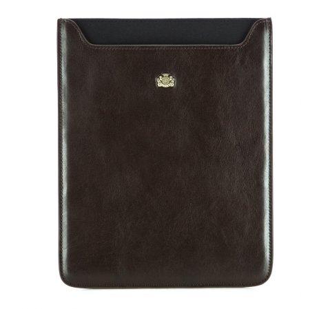 Кожаный чехол для планшета с гербом, темно-коричневый, 10-2-132-1, Фотография 1