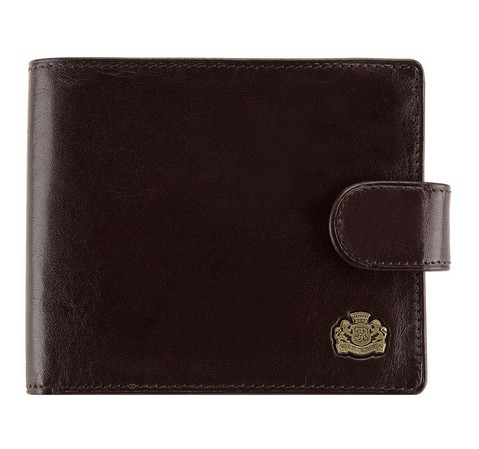 Мужской кожаный кошелек, темно-коричневый, 10-1-120-1, Фотография 1