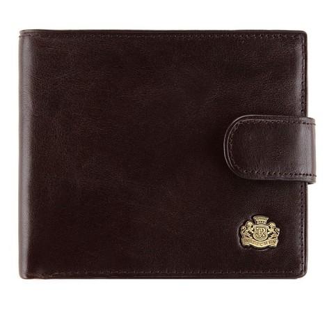 Мужской кожаный кошелек, темно-коричневый, 10-1-125-4, Фотография 1
