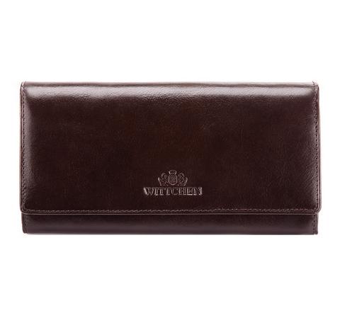 Классический большой кожаный кошелек, темно-коричневый, 21-1-052-1, Фотография 1