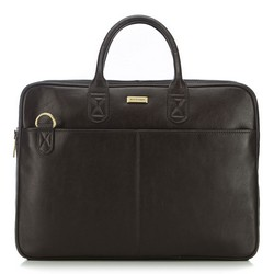 Кожаная сумка для ноутбука, темно-коричневый, 91-3U-301-4, Фотография 1