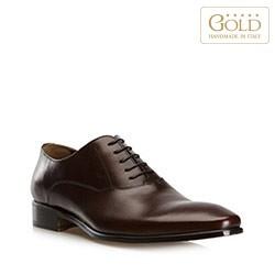 Мужские кожаные оксфорды, темно-коричневый, BM-B-572-4-45_5, Фотография 1