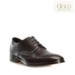Кожаные мужские туфли, темно-коричневый, BM-B-574-4-46, Фотография 1