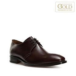 Кожаные мужские туфли, темно-коричневый, BM-B-580-4-44, Фотография 1