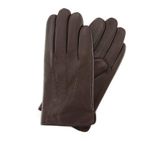 Перчатки мужские, темно-коричневый, 39-6L-328-1-M, Фотография 1