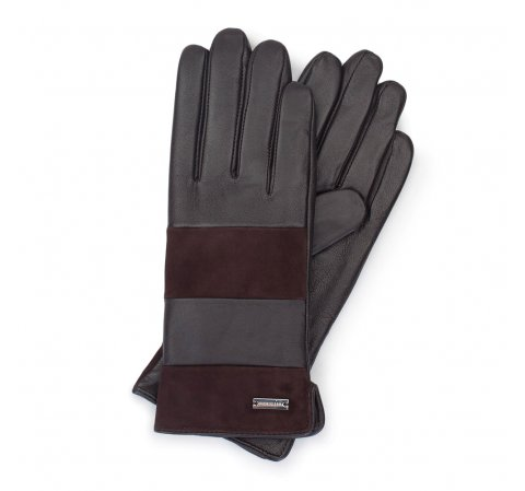 Перчатки женские, темно-коричневый, 39-6-576-BB-M, Фотография 1