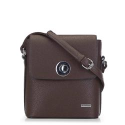Женская сумка через плечо, темно-коричневый, 91-4Y-611-4, Фотография 1