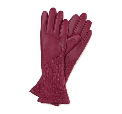 Перчатки женские, темно-розовый, 39-6-214-L-X, Фотография 1