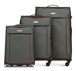 Комплект чемоданов, темно-серый, 56-3S-46S-01, Фотография 1