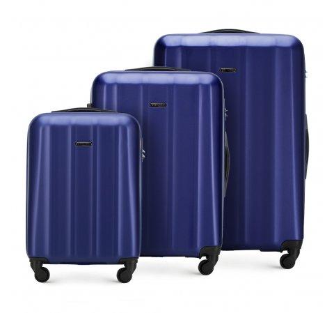 Комплект чемоданов, темно-синий, 56-3P-11S-95, Фотография 1