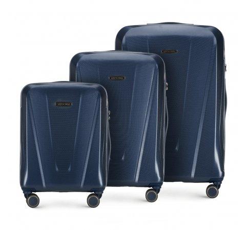Комплект чемоданов, темно-синий, 56-3P-12S-90, Фотография 1