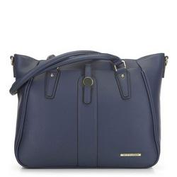 Большая сумка-шоппер на плечо, темно-синий, 91-4Y-702-7, Фотография 1