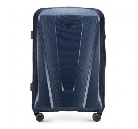 Большой чемодан, темно-синий, 56-3P-123-35, Фотография 1
