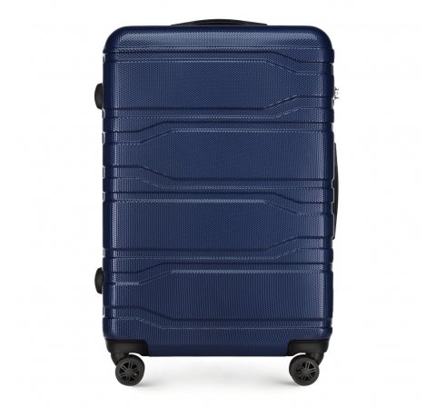Большой чемодан, темно-синий, 56-3P-983-31, Фотография 1