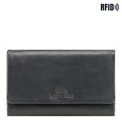 Женский прямоугольной кожаный кошелек, темно-синий, 26-1-442-N, Фотография 1