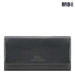 Женский прямоугольной кожаный кошелек, темно-синий, 26-1-443-N, Фотография 1