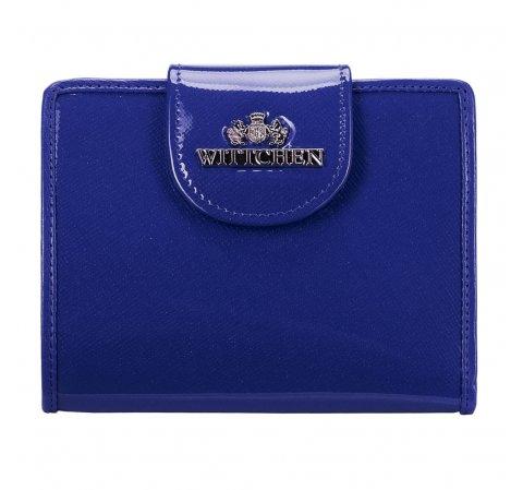 Кожаный женский кошелек, темно-синий, 25-1-362-TL, Фотография 1