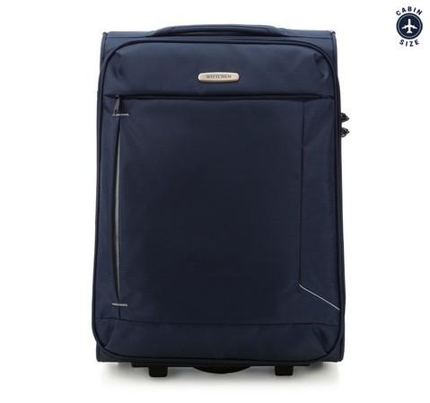 Тканевой чемодан ручная кладь, темно-синий, 56-3S-471-35, Фотография 1