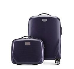 Комплект ( чемодан ручная кладь + косметичка), темно-синий, 56-3P-571_4-90, Фотография 1