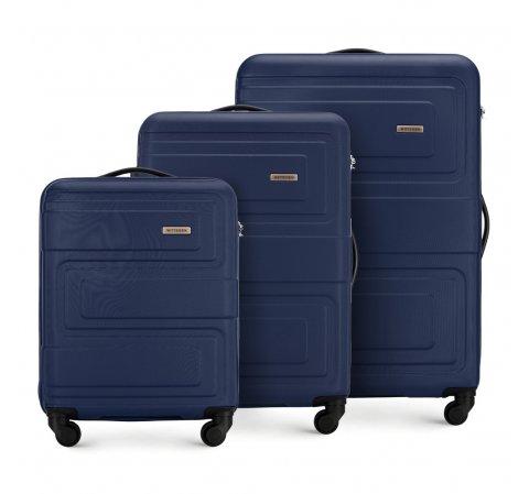 Комплект чемоданов, темно-синий, 56-3A-63S-85, Фотография 1