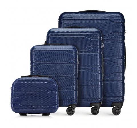 Комплект чемоданов, темно-синий, 56-3P-98K-11, Фотография 1
