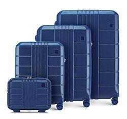 Комплект чемоданов из поликарбоната, темно-синий, 56-3P-82K-90, Фотография 1
