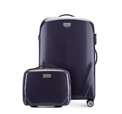 Комплект (Средний чемодан + косметичка), темно-синий, 56-3P-572_4-90, Фотография 1