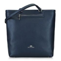 Кожаная сумка-шоппер, темно-синий, 92-4E-600-7, Фотография 1