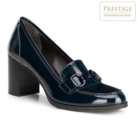 Лакированные женские туфли-лодочки, темно-синий, 91-D-104-7-35, Фотография 1