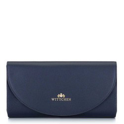 Минималистичный кожаный клатч, темно-синий, 92-4E-659-N, Фотография 1