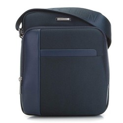 Мужская средняя сумка через плечо, темно-синий, 91-4U-201-7, Фотография 1