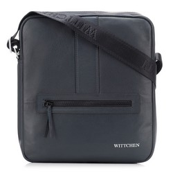 Мужская средняя сумка-мессенджер, темно-синий, 92-4U-900-7, Фотография 1