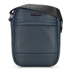 Мужская сумка через плечо из экокожи, темно-синий, 91-4P-601-7, Фотография 1