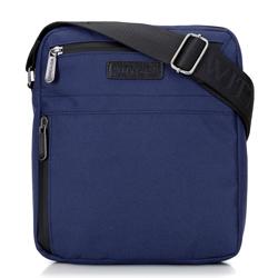 """Мужская сумка для планшета 8"""" с боковым карманом, темно-синий, 92-4P-100-17, Фотография 1"""