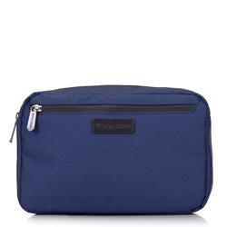 Мужская сумка на пояс с фронтальным карманом, темно-синий, 92-3P-103-17, Фотография 1