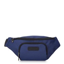 Мужская сумка на пояс округлой формы, темно-синий, 92-3P-104-8, Фотография 1