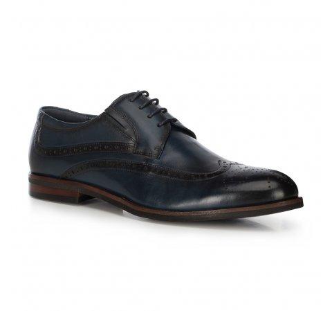 Мужские кожаные туфли, темно-синий, 91-M-905-7-44, Фотография 1